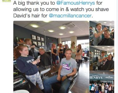 Famous Henrys supporting Macmillan Cancer Support